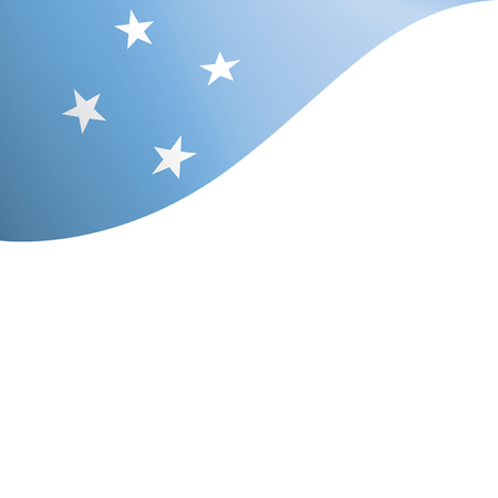 Federated States Micronesia national flag, vector illustration on a white background
