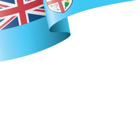 Fiji flag, vector illustration on a white background Vektoros illusztráció