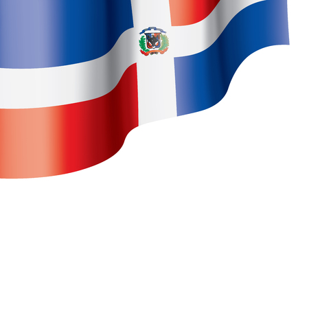 Dominicana national flag, vector illustration on a white background