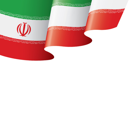 Iran national flag, vector illustration on a white background