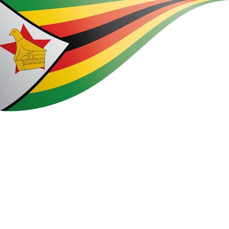 Drapeau national du Zimbabwe, illustration vectorielle sur fond blanc