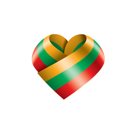 Lithuania flag, vector illustration on a white background. Ilustração