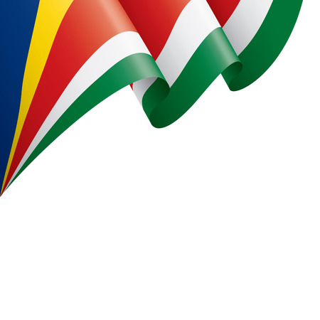 Seychelles national flag, vector illustration on a white background