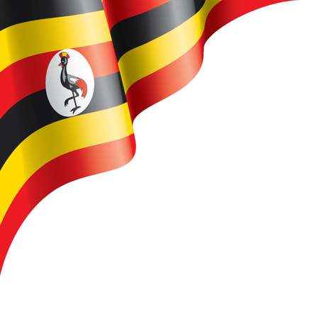 Uganda flag, vector illustration on a white background Vector Illustratie