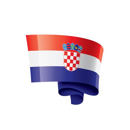Kroatien-Flagge, Vektorillustration auf einem weißen Hintergrund