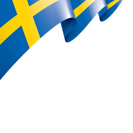 Sweden national flag, vector illustration on a white background