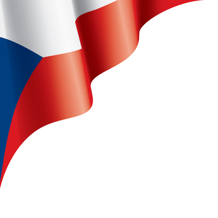 Czechia national flag, vector illustration on a white background Vectores