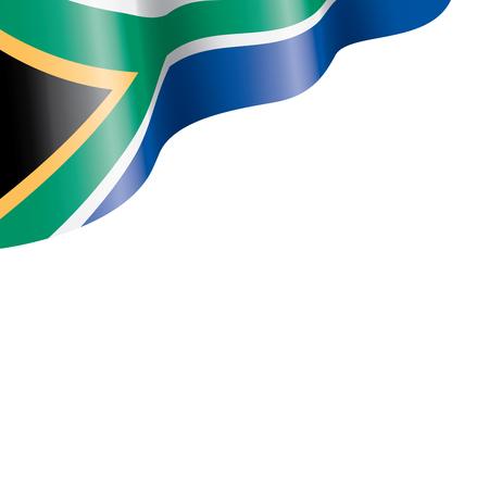 Drapeau de l'Afrique du Sud, illustration vectorielle sur fond blanc Vecteurs