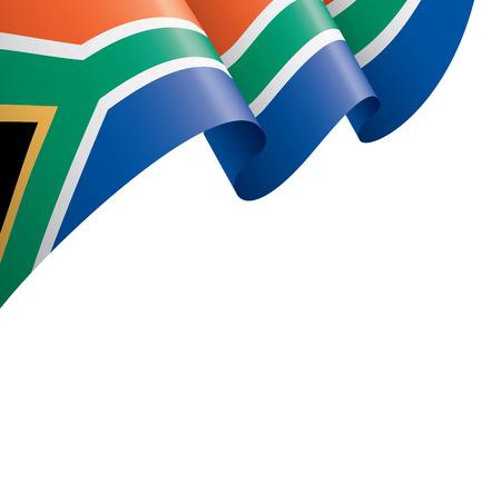 Drapeau de l'Afrique du Sud, illustration vectorielle sur fond blanc