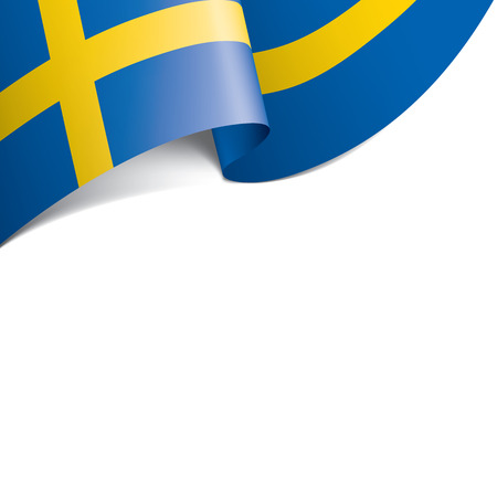 Sweden flag, vector illustration on a white background Stock Illustratie