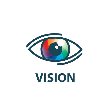 Sign in the shape of the eye. Vector illustration of the icon Illustration