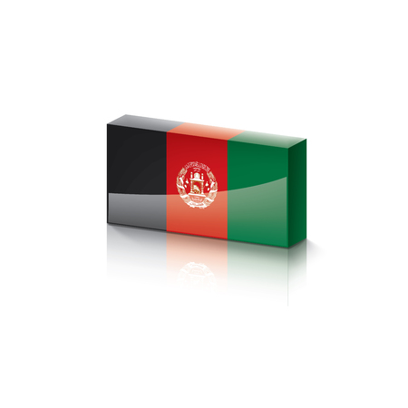 Afghanistan flag, vector illustration on a white background