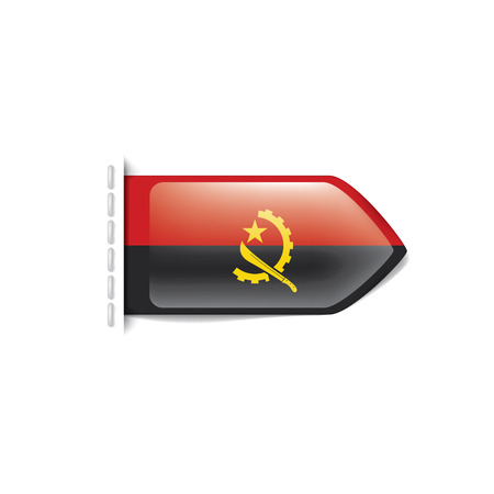 Angola flag, vector illustration on a white background 写真素材 - 111800061