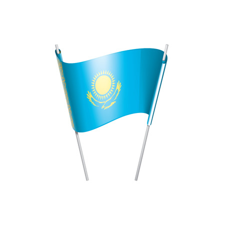 Kazakhstan flag, vector illustration on a white background