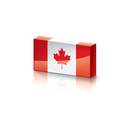 Canada flag, vector illustration on a white background