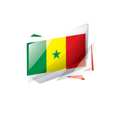 Senegal national flag, vector illustration on a white background