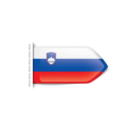 Slovenia national flag, vector illustration on a white background
