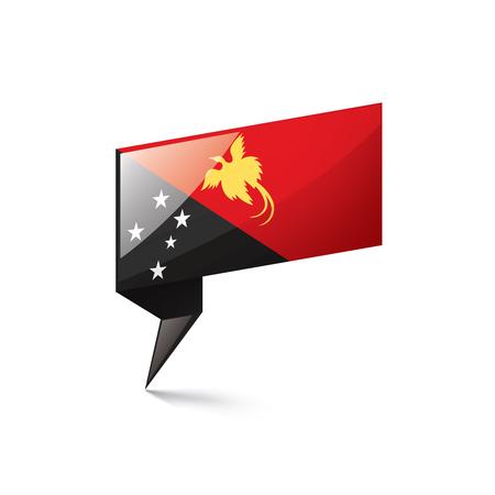 Papua New Guinea national flag, vector illustration on a white background Banco de Imagens - 127546237