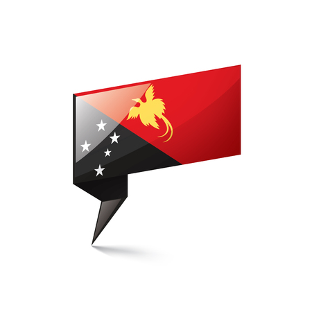 Papua New Guinea national flag, vector illustration on a white background