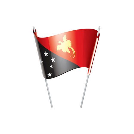 Papua New Guinea national flag, vector illustration on a white background Banque d'images - 127546240