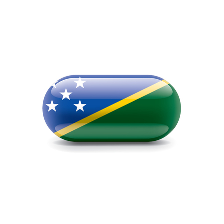 Solomon Islands national flag, vector illustration on a white background