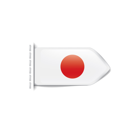 Japan national flag, vector illustration on a white background
