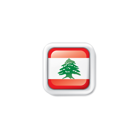 Lebanese flag, vector illustration on a white background Illustration