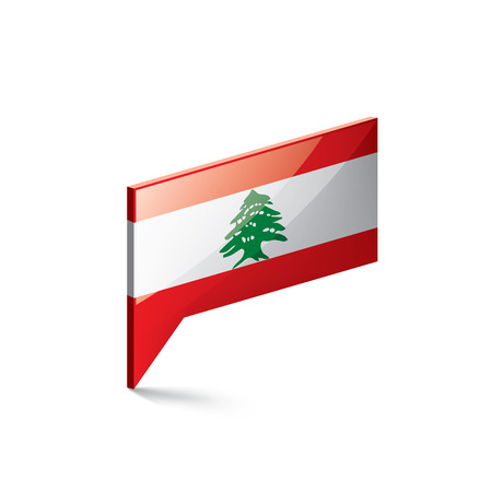 Lebanese flag, vector illustration on a white background  イラスト・ベクター素材
