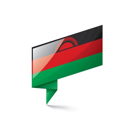 Malawi national flag, vector illustration on a white background
