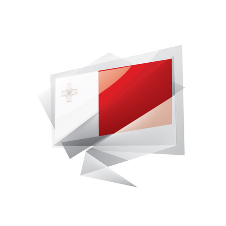 Malta national flag, vector illustration on a white background 스톡 콘텐츠 - 127522348