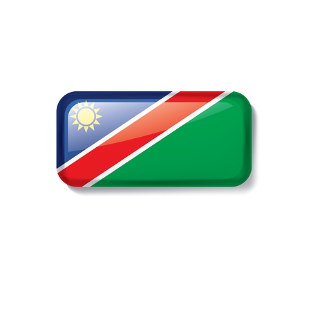 Namibia national flag, vector illustration on a white background