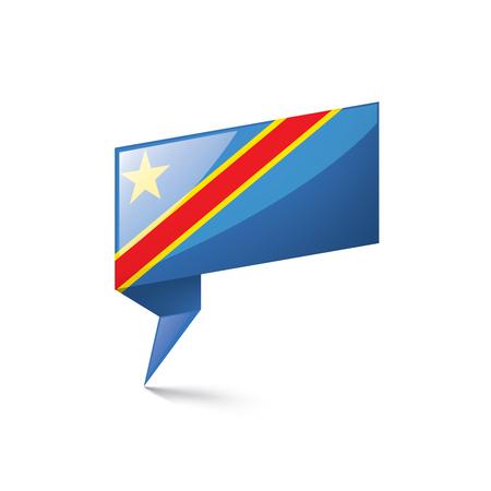 Democratic Republic of the Congo flag, vector illustration on a white background Vetores