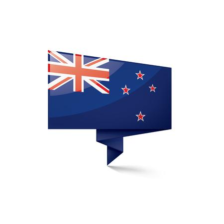 Bandera de Nueva Zelanda, ilustración vectorial sobre un fondo blanco