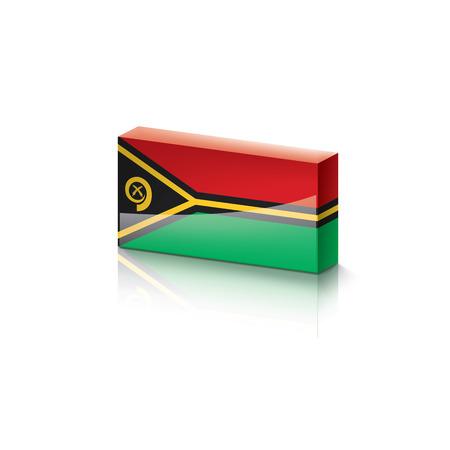 Vanuatu national flag, vector illustration on a white background Ilustração