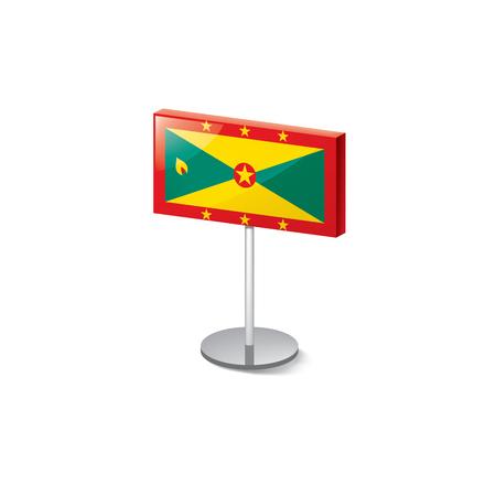 Grenada flag, vector illustration on a white background
