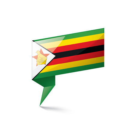 Zimbabwe flag, vector illustration on a white background
