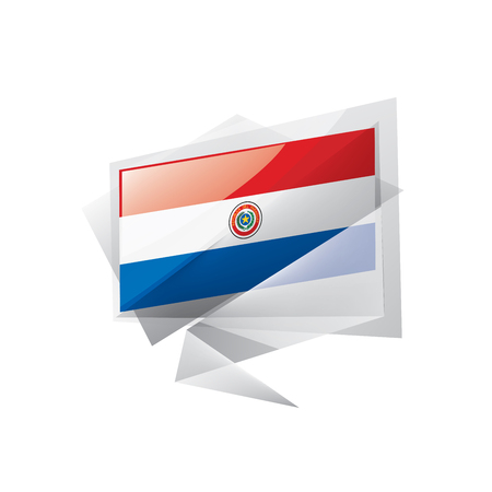Paraguay national flag, vector illustration on a white background