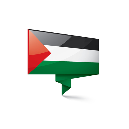 Palestine national flag, vector illustration on a white background