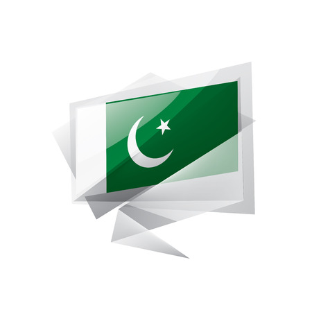 Pakistan national flag, vector illustration on a white background Ilustração