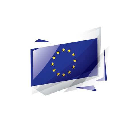 European union flag, vector illustration on a white background 向量圖像