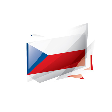 Czechia national flag, vector illustration on a white background  イラスト・ベクター素材