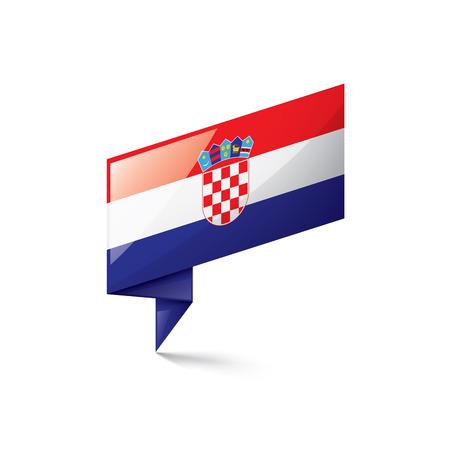 Kroatische Nationalflagge, Vektorillustration auf einem weißen Hintergrund Vektorgrafik