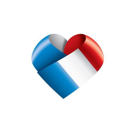 France flag, vector illustration on a white background Illustration