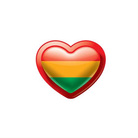 Bolivia flag, vector illustration on a white background