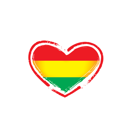Bolivia flag, vector illustration on a white background  イラスト・ベクター素材