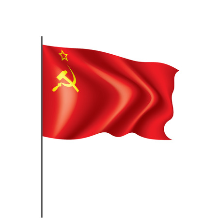 The red flag of the USSR. Vector illustration on white background. 矢量图像