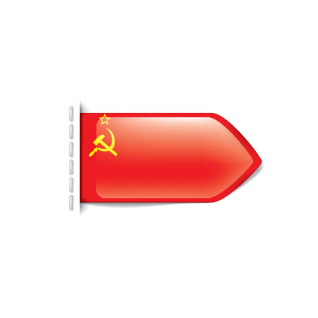The red flag of the USSR. Vector illustration on white background.