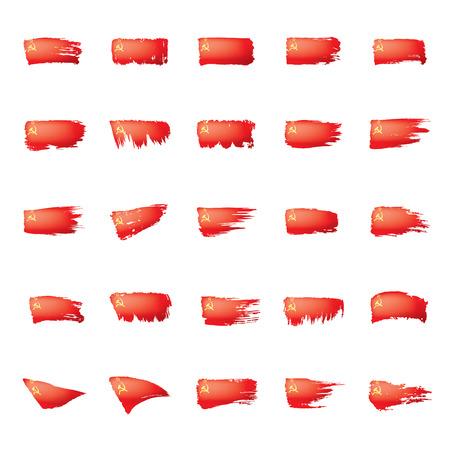 The red flag of the USSR. Vector illustration on white background. Illustration