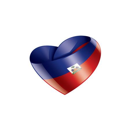 Haiti national flag, vector illustration on a white background  イラスト・ベクター素材
