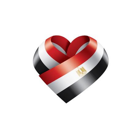 Egypt national flag, vector illustration on a white background